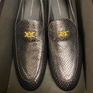 Giuseppe Zanotti Snake Leather Loafers Sz 11